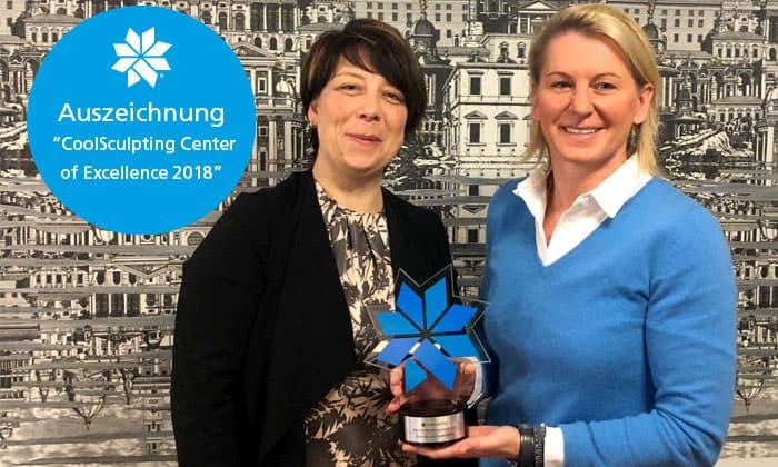 """Klinik Dr. Katrin Müller - Auszeichnung für das CoolSculpting® """"Center of Excellence 2018"""""""