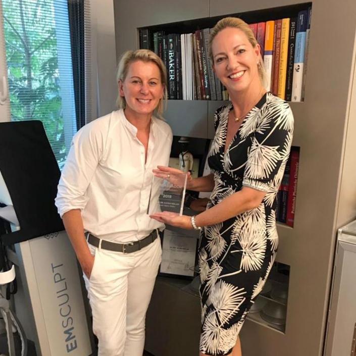 Galderma Ambassador Award 2019 für die meisten Unterspritzungen (Botulinum und Filter) in Norddeutschland