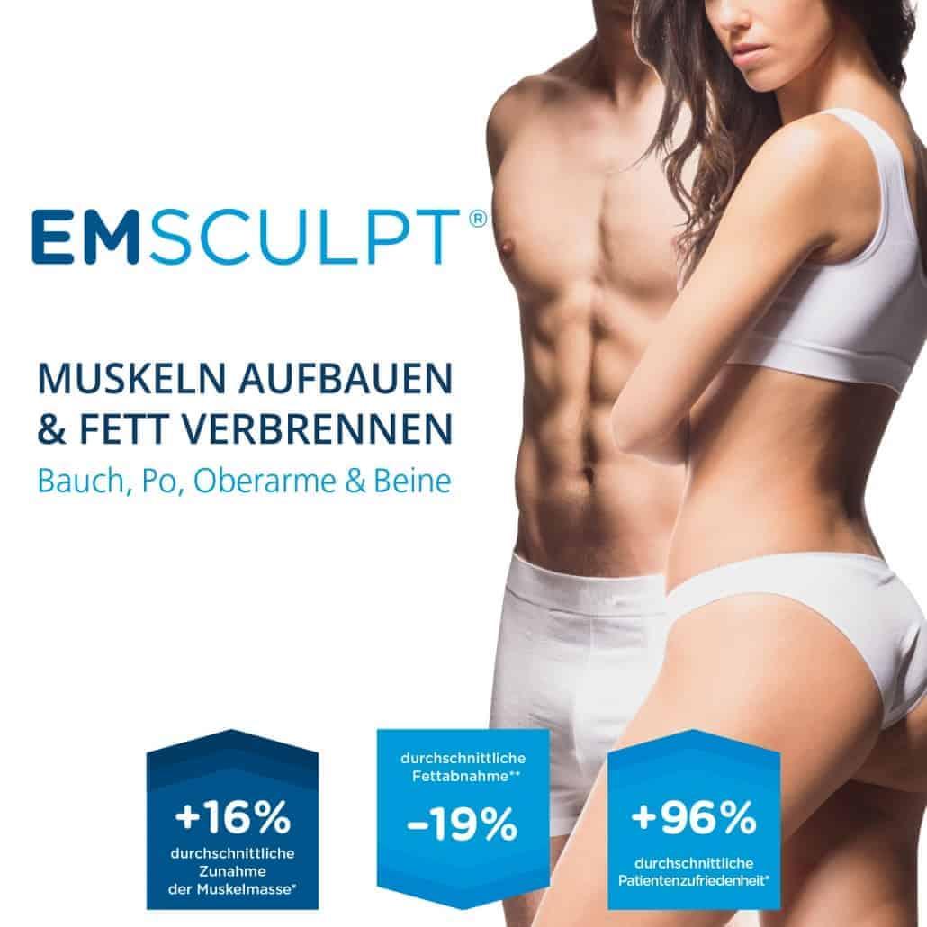 EMSCULPT - Muskeln aufbauen, Fett Reduzieren am Bauch, Gesäß, an den Oberarme und Beine in der Klinik Dr. Katrin Müller in Hannover