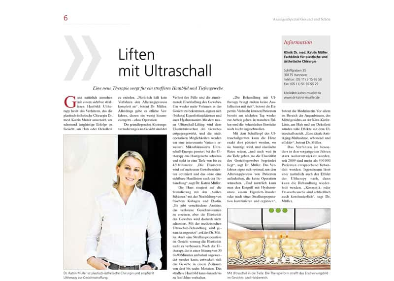 Lifting mit Ultraschall