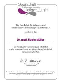 Zertifikat GAERID
